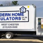 Box truck graphic for West Chester home insulators.