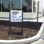 Aluminum directional signage in Plymouth Meeting, PA