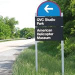 Aluminum post and panel directional sign with reflective vinyl graphics Chester County, PA