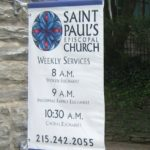 Digitally printed banner with sleeves on pole brackets - Chestnut Hill, PA