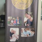 Economy retractable banner stand with full color digitally printed banner