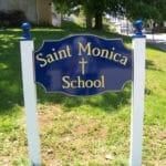 Carved HDU school sign with 23-karat gold leaf- Bryn Mawr, PA