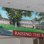 Large format digitally printed banner with grommets