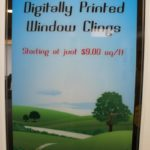 Full color digitally printed window cling