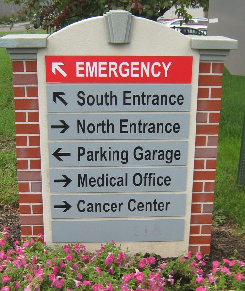 Foamcraft directional hospital moument sign- Phoenixville, PA
