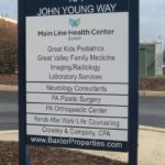 Exterior post and panel directory sign Exton, PA