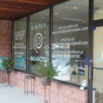 Vinyl graphics on glass door & windows- West Chester, PA