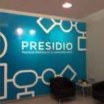 Digitally Printed Branded Wall Graphic for Presidio of Plymouth Meeting