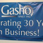 Large format digitally printed anniversary banner