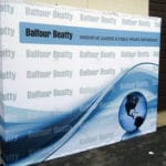 Large format digitally printed trade show pop-up display