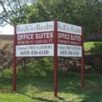MDO commerical real estate sign with vinyl graphics