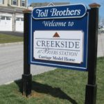 MDO community welcome sign with raised panels- Chester Springs, PA