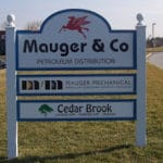 MDO mutliple tenant business sign with vinyl graphics- West Chester, PA
