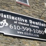 Wall mounted MDO sign with vinyl graphics- West Chester, PA