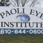 Digitally printed temporary banner mounted on u-channel posts - Paoli, PA