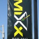 Custom digitally printed pole banner with hems and sleeves - Villanova, PA