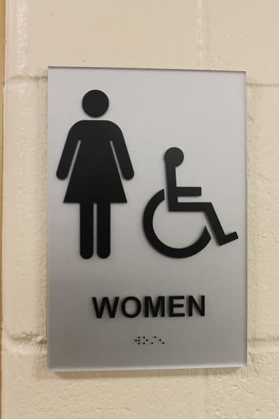 Bathroom Signs With Braille ada signs in philadelphia | elmark sign & graphics