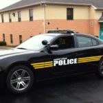 Township police vehicle lettered with high-performance vinyl graphics