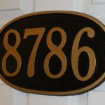Cast zinc address plaque