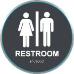 ADA Restroom Sign in California