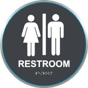ADA Restroom Sign in California