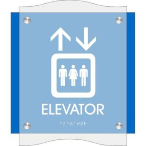 ADA Elevator Sign in Coastal Collection