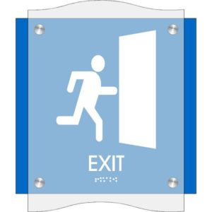 ADA Exit Sign in Coastal Collection