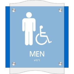 ADA Restroom Sign in Coastal Collection