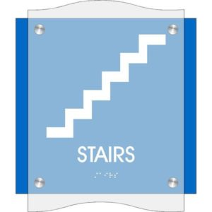 ADA Stairs Sign in Coastal Collection