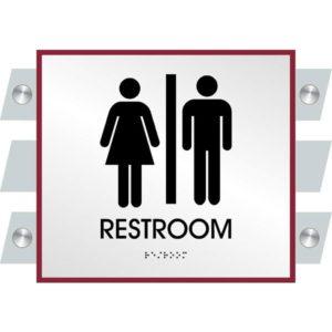 ADA Restroom Sign in Garrison Collection