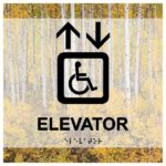 ADA Elevator Sign in Landscape Collection