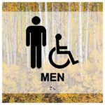 ADA Restroom Sign in Landscape Collection