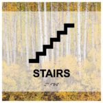 ADA Stairs Sign in Landscape Collection