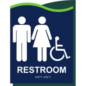 ADA Restroom Sign in Millennium Collection