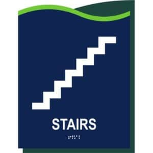 ADA Stairs Sign in Millennium Collection