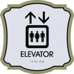 ADA Elevator Sign in Revolution Collection