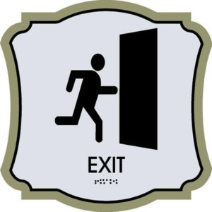 ADA Exit Sign in Revolution Collection