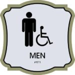 ADA Restroom Sign in Revolution Collection