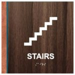 ADA Stairs Sign in Rustic Collection