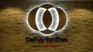 DePuy Synthes Backlit Reception Sign