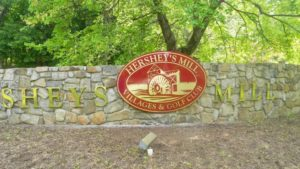 New Sign Design at Hershey's Mill