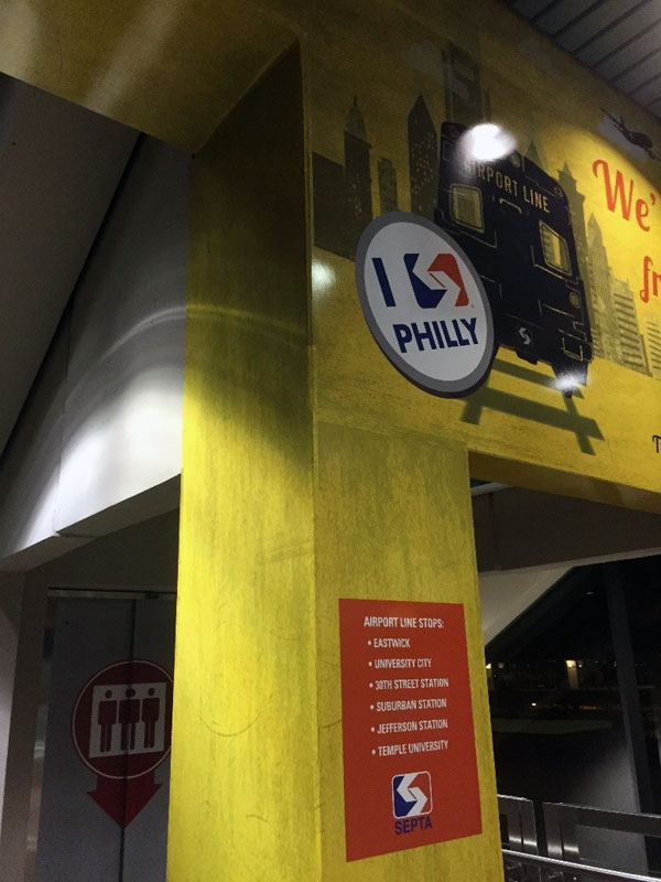 Septa Signs at Philly Airport