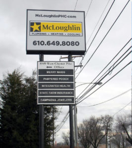 McLoughlin Sign After Refurbishing