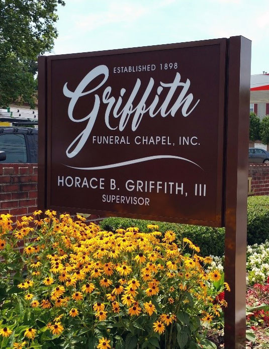 New Sign, Griffith Funeral Chapter