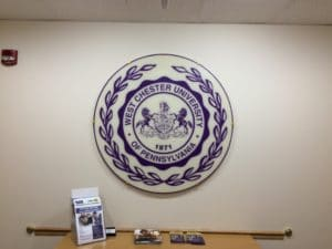 acrylic faced university seal with subsurface graphics at WCU