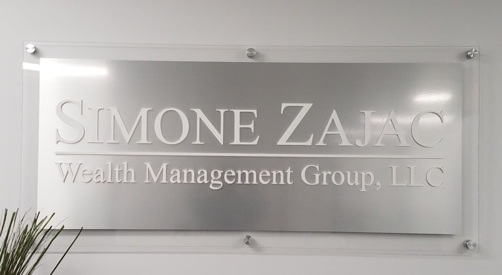 Simone Zajac Aluminum Sign