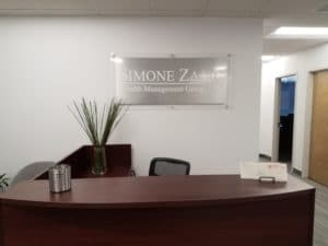 Brushed Aluminum Sign for Business in Exton