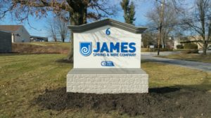 Monument sign by elmark sign and graphics