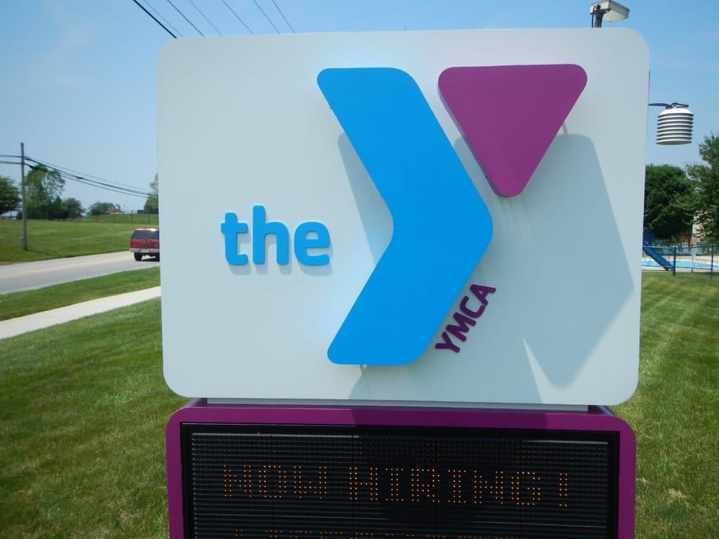 YMCA Message Board sign