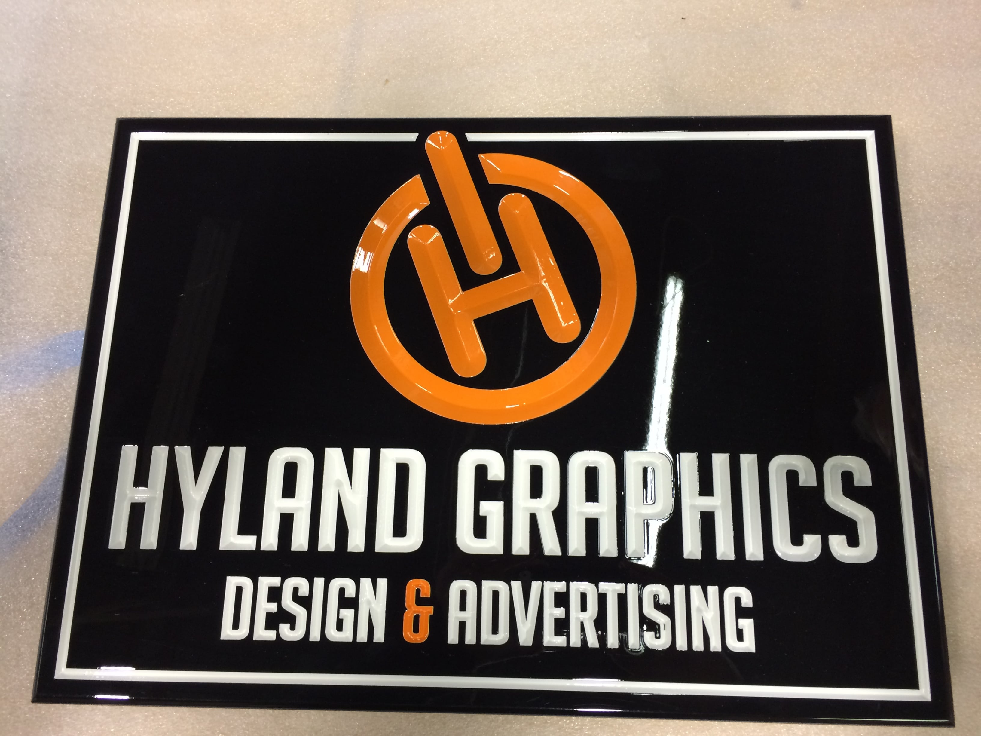 Gloss HDU CArved Sign